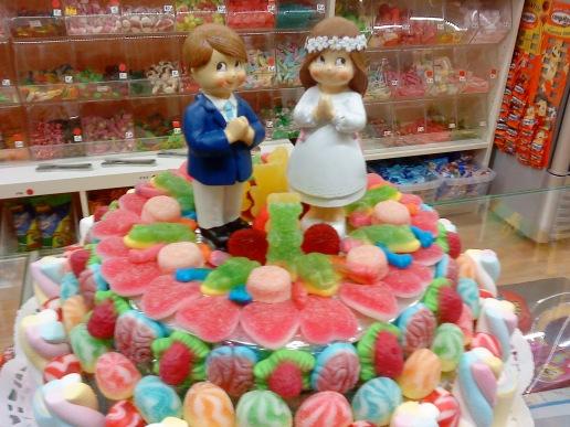 Feria la Comunión Barbastro, tartas de gominolas