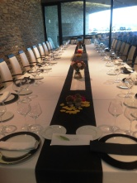 Mesas de Banquete de Irius, decoradas por Floristería Castillón