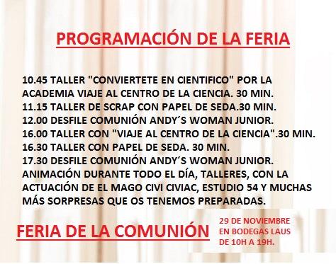 PROGRAMACION DE LA FERIA